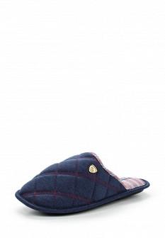 Мужские синие немецкие текстильные тапочки