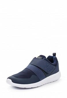 Мужские синие немецкие кожаные кроссовки