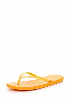 Женские оранжевые летние шлепанцы