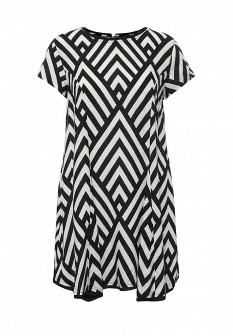 Белое черное осеннее платье BILLABONG