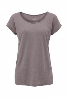 Женская осенняя сиреневая футболка