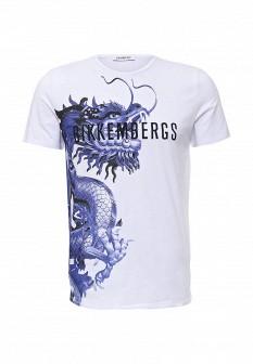 Мужская белая футболка Bikkembergs