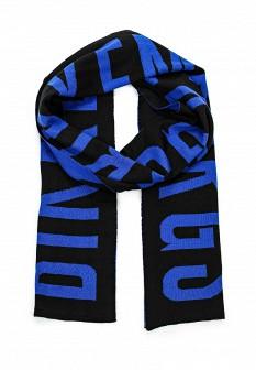 Мужской синий черный итальянский осенний шарф