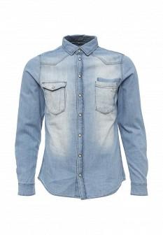 Мужская голубая джинсовая рубашка