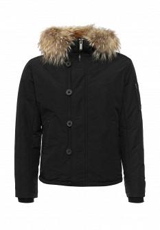 Мужская черная утепленная осенняя куртка