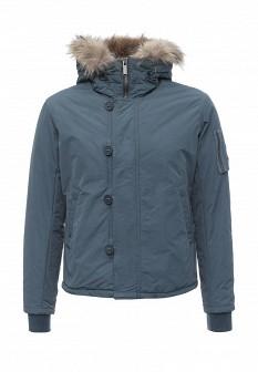 Мужская голубая утепленная осенняя куртка