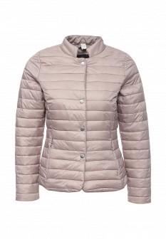 Женская утепленная осенняя сиреневая куртка