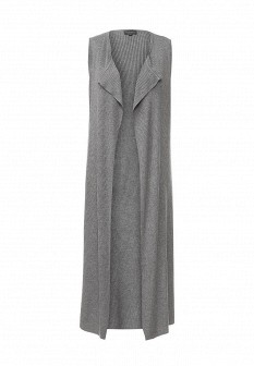 Женский серый осенний жилет