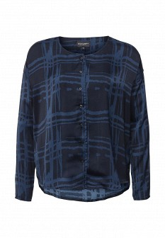 Синяя осенняя блузка