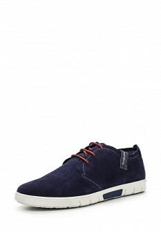 Мужские синие туфли bugatti