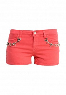 Женские итальянские коралловые шорты