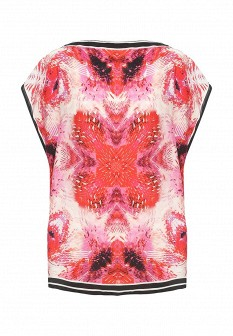 Женская розовая итальянская футболка