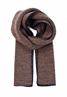 Мужской коричневый синий осенний шарф