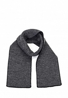 Мужской серый черный осенний шарф