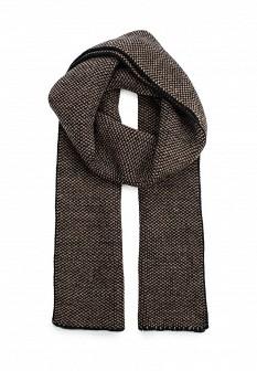 Женский коричневый осенний шарф