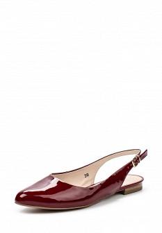 Женские бордовые кожаные сандалии