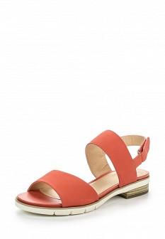 Женские коралловые кожаные сандалии