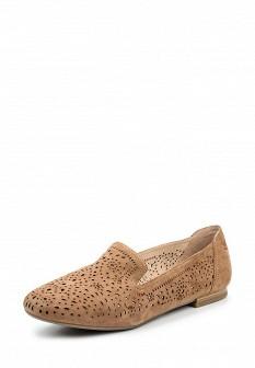 Женские коричневые туфли лоферы