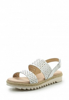 Женские белые кожаные сандалии на каблуке