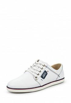 Мужские белые кожаные кеды Calipso