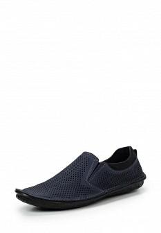 Мужские синие туфли лоферы
