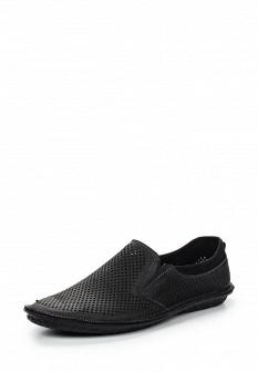 Мужские черные туфли лоферы Calipso