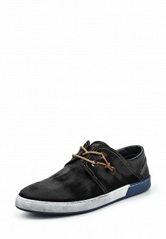 Мужские черные кожаные кеды Calipso