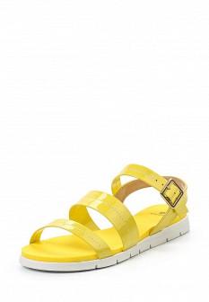 Женские желтые кожаные сандалии
