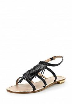 Женские черные кожаные сандалии