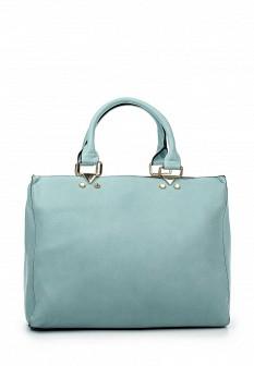 Женская голубая кожаная сумка