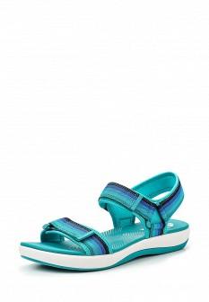 Женские бирюзовые сандалии