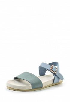 Женские голубые сандалии из нубука