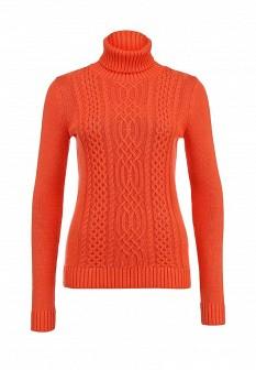 Женский оранжевый осенний свитер