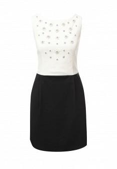 Белое черное осеннее платье CONVER