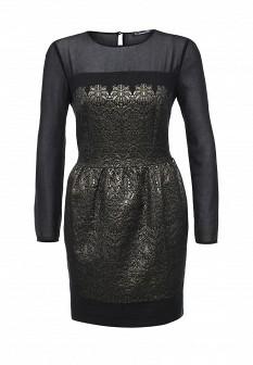 Черное осеннее платье CONVER