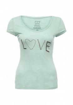 Женская зеленая футболка CONVER