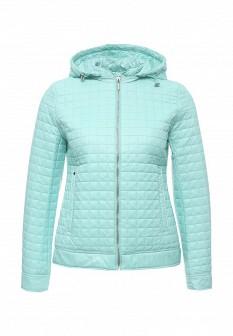 Женская мятная утепленная осенняя куртка