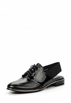 Женские черные кожаные лаковые текстильные туфли