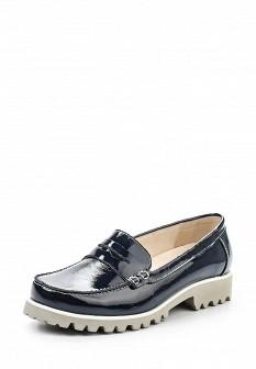 Женские кожаные лаковые туфли лоферы на каблуке