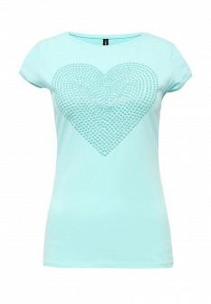 Женская мятная осенняя футболка