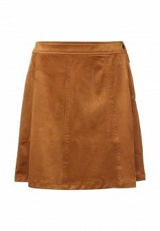 Коричневая осенняя юбка