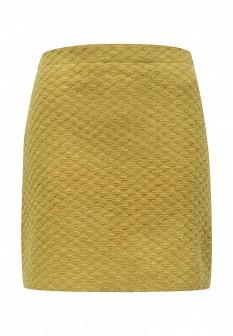 Желтая зеленая осенняя юбка Concept Club