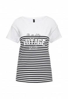 Женская белая черная футболка