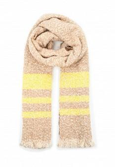 Женский бежевый осенний шарф