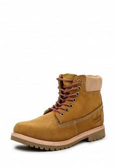 Женские коричневые осенние ботинки из нубука на каблуке