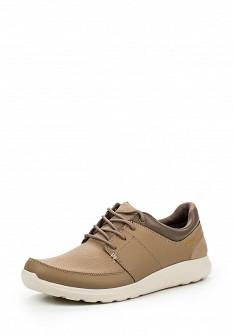 Мужские бежевые осенние кожаные кроссовки