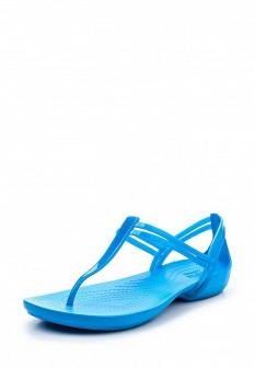 Женские голубые сандалии CROCS