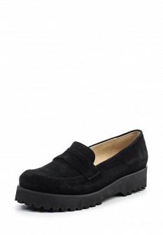 Женские черные туфли лоферы на каблуке на платформе