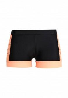 Женские оранжевые черные осенние спортивные шорты