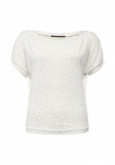 Женская белая осенняя футболка